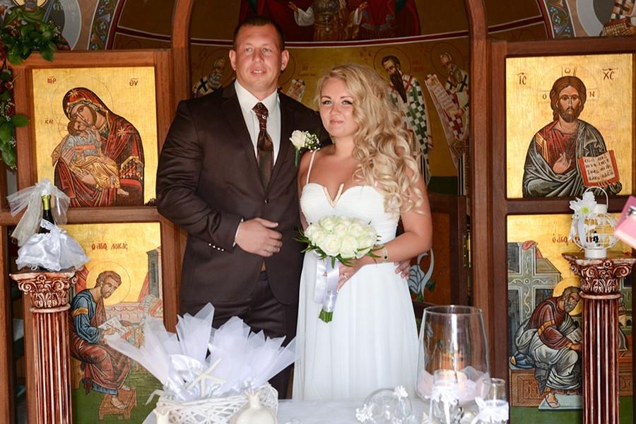 A church wedding in Our Lady of Filerimos church