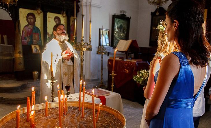 Санторини, Венчание в церкви, Венчание в кафедральном соборе Сретения Господня