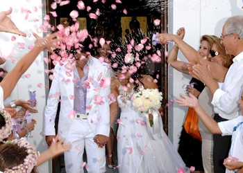 A church wedding in the Monastery of Agia Anastasia the Pharmakolytria