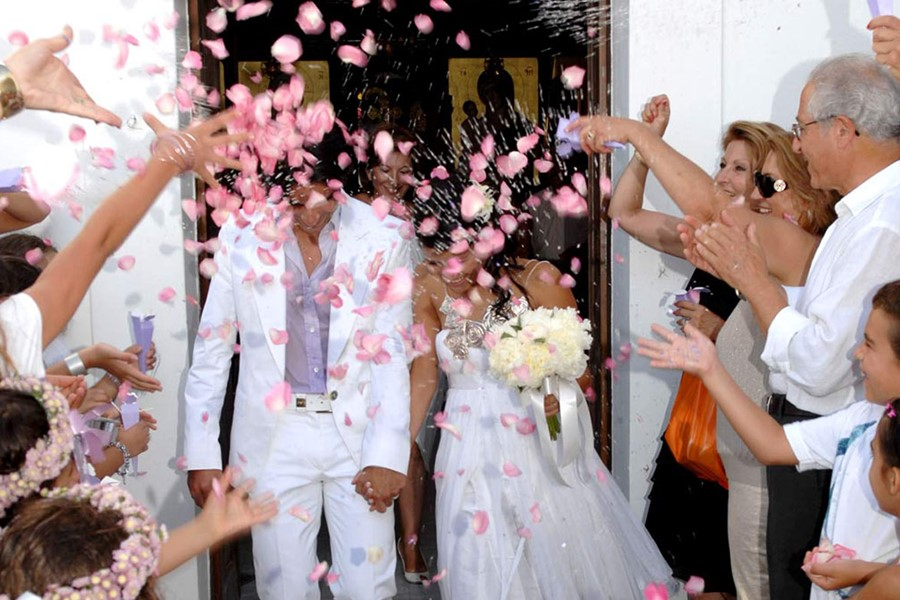 A church wedding in the Monastery of Agia Anastasia the Pharmakolytria