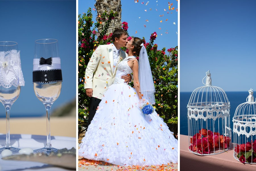 A wedding by the sea on the island of Zakynthos