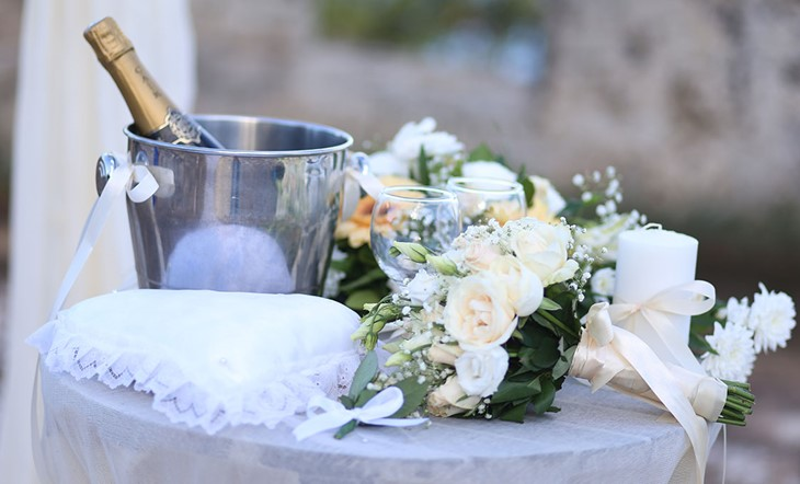 Crete, Symbolic  ceremony, A wedding by the sea on the island of Crete