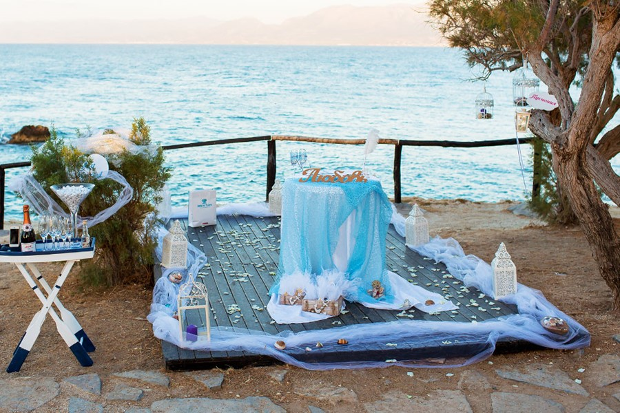 A wedding on the beach of Nea Skioni