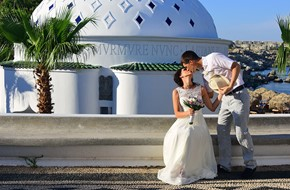 Daria's and Maxim's civil wedding ceremony in Kalithea springs