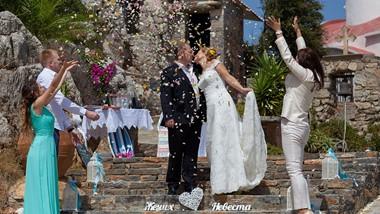 Elena's and Oleg's orthodox wedding ceremony dedicated to 25th wedding anniversary