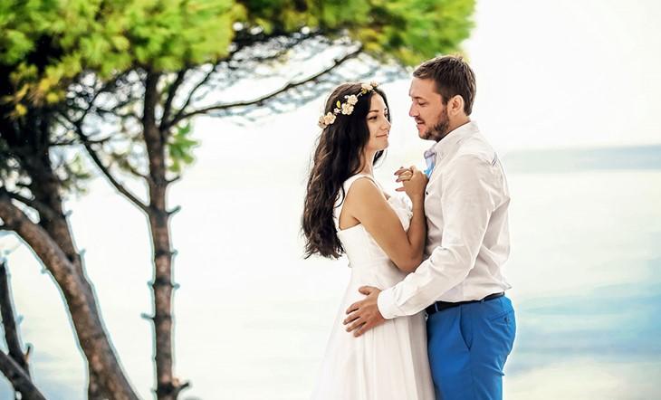Символическая церемония Маргариты и Антона на острове Крит в Греции