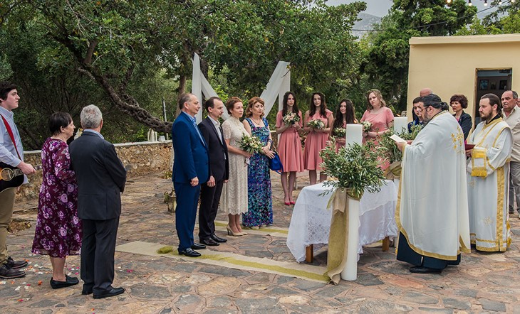 Crete, Symbolic  ceremony, In the shade of a Greek olive tree on the island of Crete