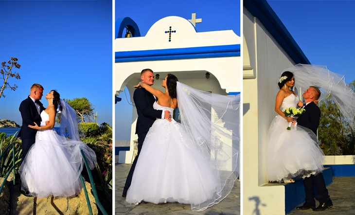 Simbolic wedding ceremony of Asta and Kestutis in Rodos