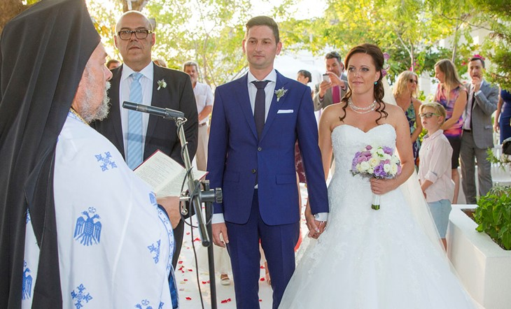 Orthodox ceremony of Arianna and Petros on Halkidiki