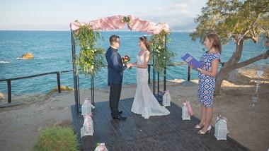 Symbolic wedding ceremony of Julia and Sergey