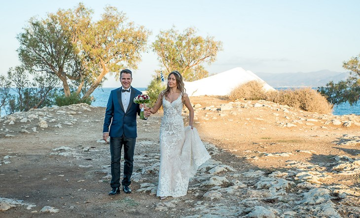 Symbolic wedding ceremony of Julia and Sergey in Crete