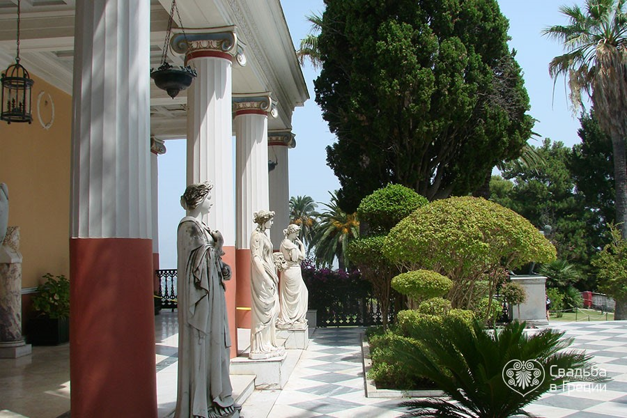 Corfu achillion palace wedding