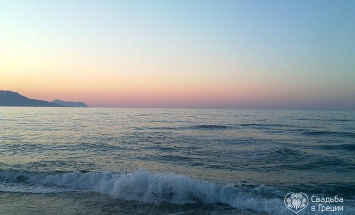 Crete, Symbolic  ceremony, The Beach of Georgioupolis