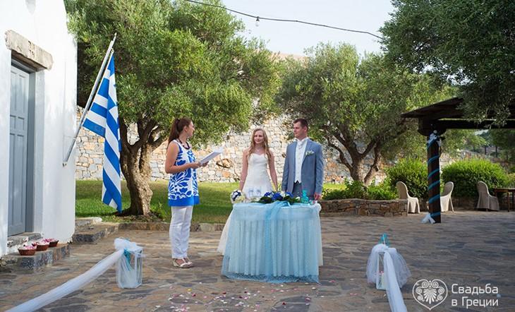 Crete, Symbolic  ceremony, The Village hotel in Elounda