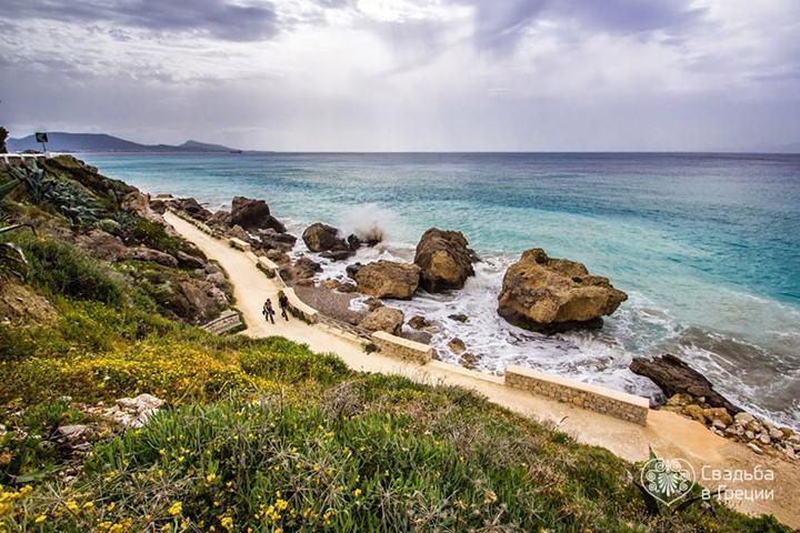 Пляж Kato Petres, Родос