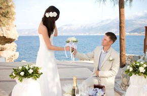 White wedding of Dasha and Alexander