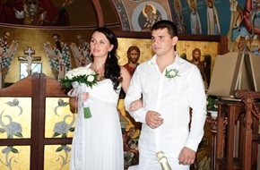 "Civil wedding ceremony ""up in the sky"" of Kristina and Vadim"