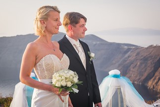 Svetlana's and Alexander's  wedding ceremony at Avaton Resort