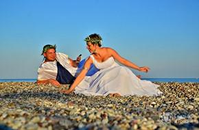 Символическая свадьба в Греции Елены и Дениса на острове Родос