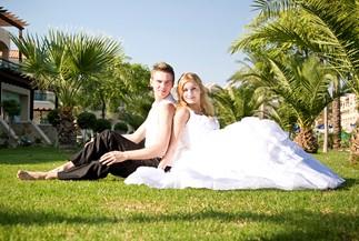Elena's and Sergey's civil wedding at Lindos