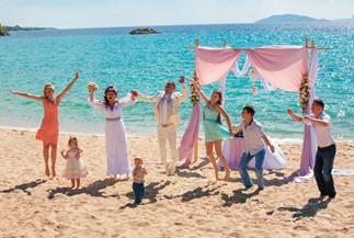 Пляжная свадьба Оксаны и Алексея