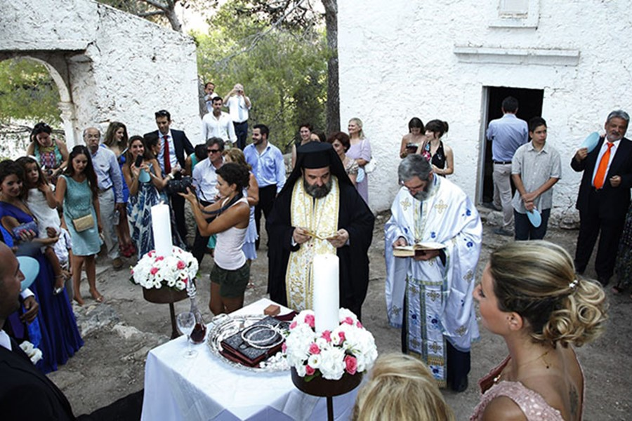 A church wedding on Crete