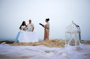 Символическая пляжная церемония Юлии и Кирилла