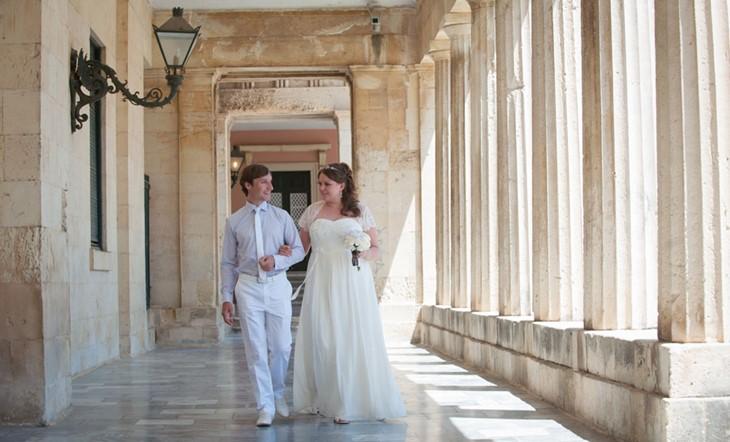 Официальное бракосочетание Софии и Романа на Корфу в Греции