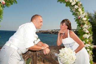 Oxana's and Vyacheslav's civil wedding ceremony