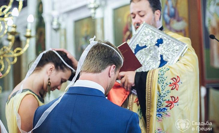Венчание в церкви на Родосе в церкви Цамбики