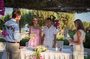 Свадебная церемония Станиславы и Антона в отеле