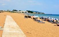 Корфу, Символическая церемония, Пляж Issos