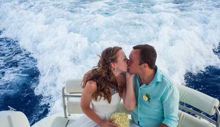 Свадьба на яхте на Крите