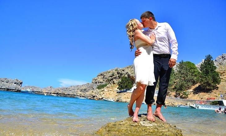 Родос, Символическая церемония, Свадьба у моря на Родосе