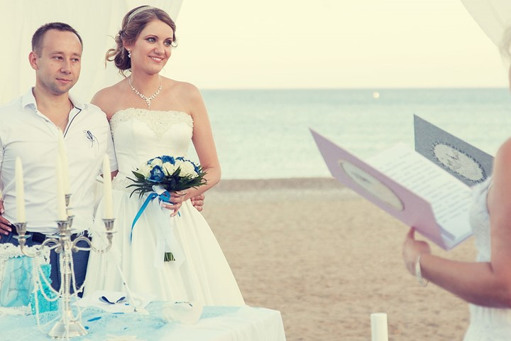 A luxury wedding at the seaside on the island of Rhodes, Rodos