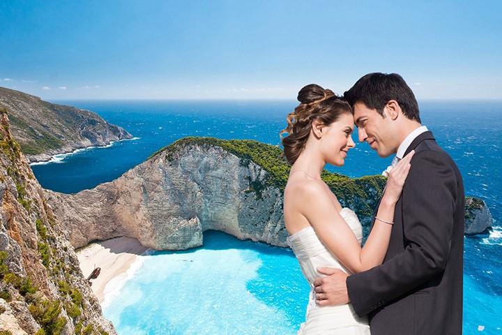Свадьба на пляже Навагио, Закинфос