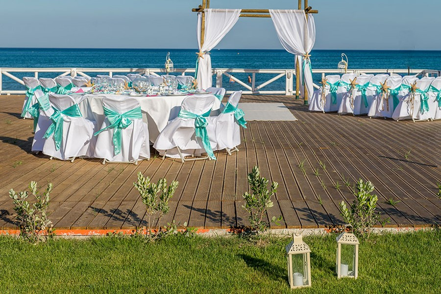A wedding ceremony in a villa on Zakynthos