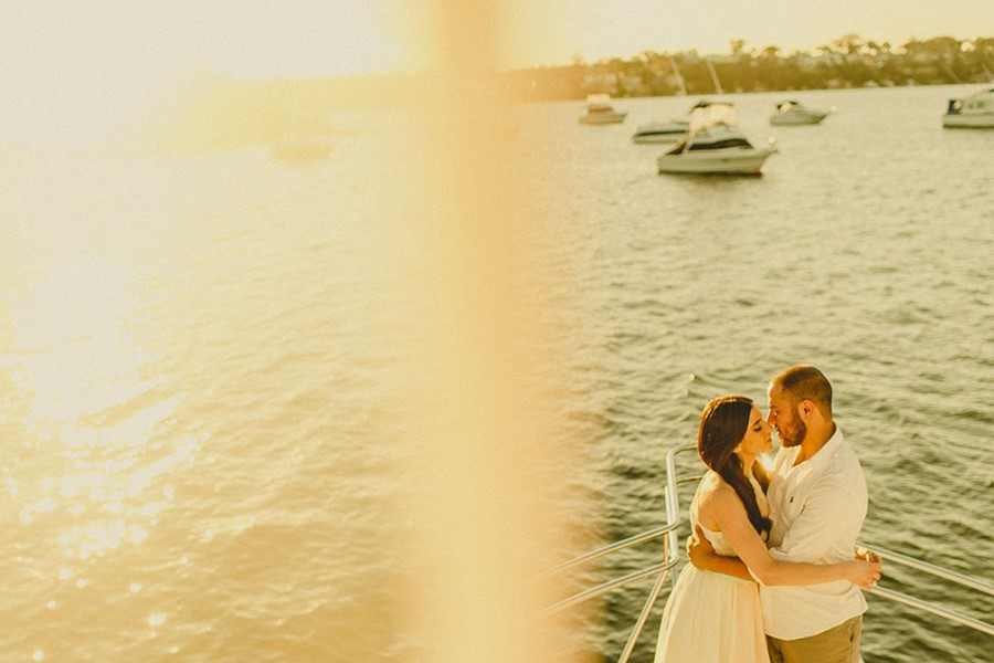 A wedding on a yacht on the island of Corfu