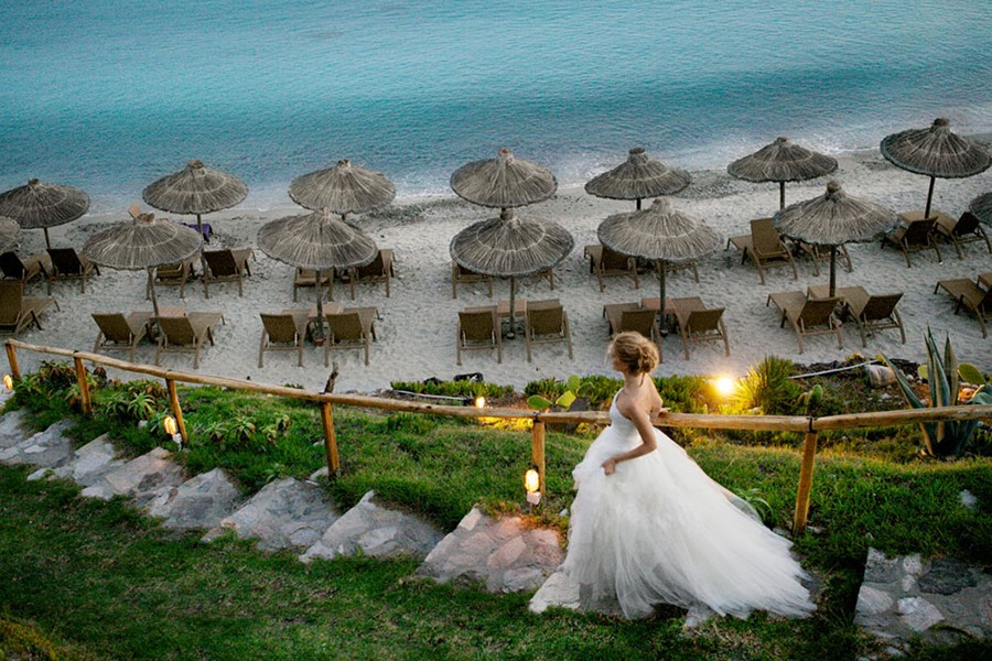 A wedding by the sea on the island of Mykonos