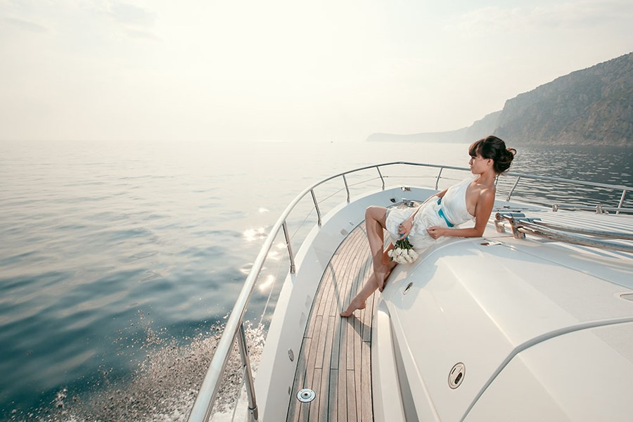 A wedding on a yacht on the island of Kos