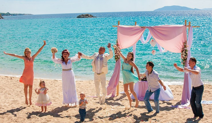 Роскошная свадьба у моря на Халкидиках