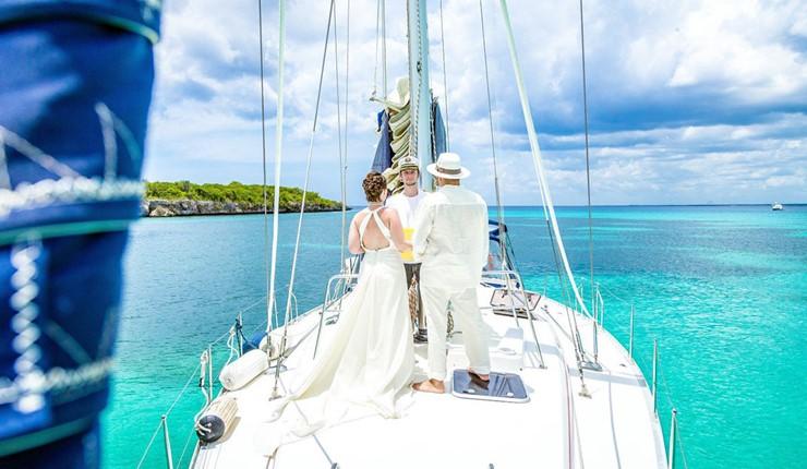 Свадьба на яхте на Халкидиках