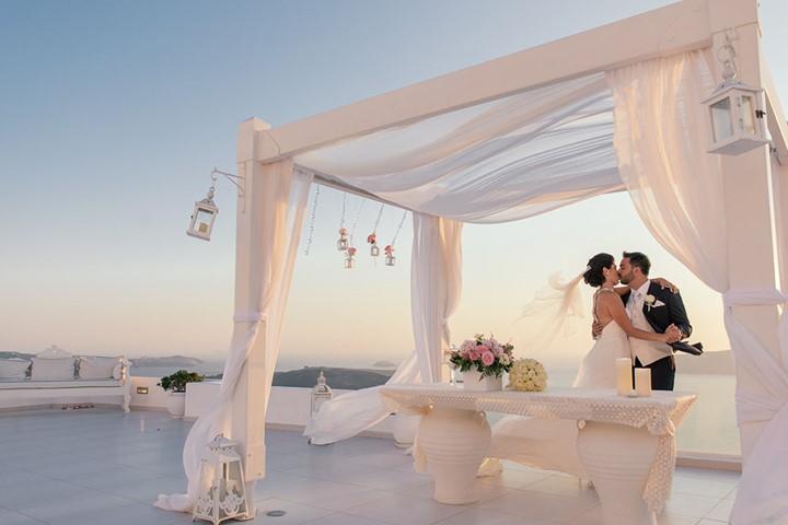 Роскошная свадьба у моря на Санторини, Санторини