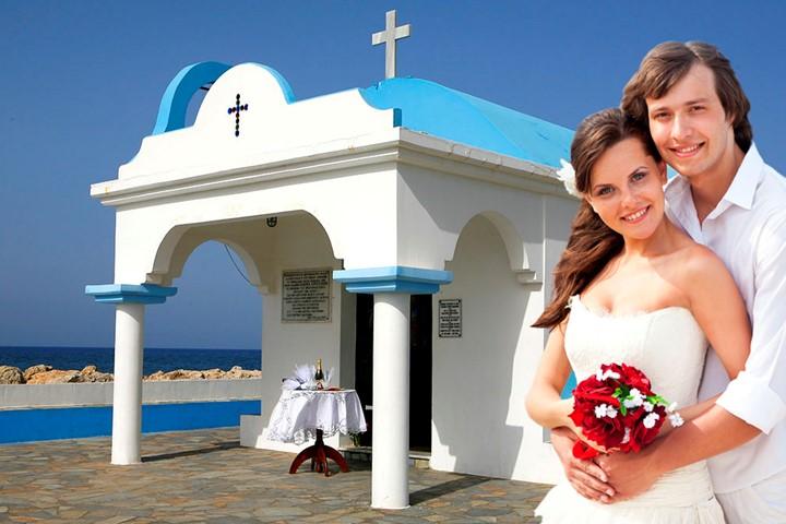 Oфициальное бракосочетание в церквушке Св. Апостолов, Родос