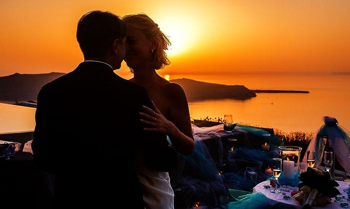 Официальное бракосочетание в Santorini Gem