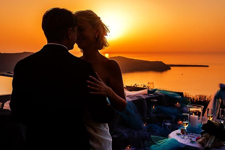 Официальное бракосочетание в Santorini Gem, Санторини