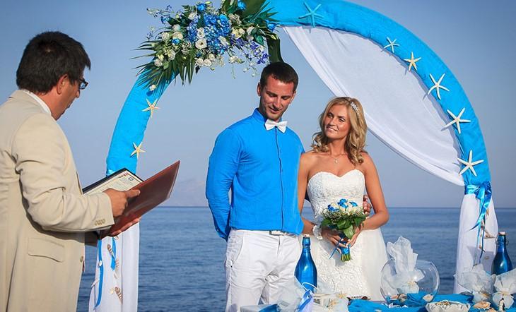 Санторини, Официальное бракосочетание, Официальное бракосочетание на Санторини