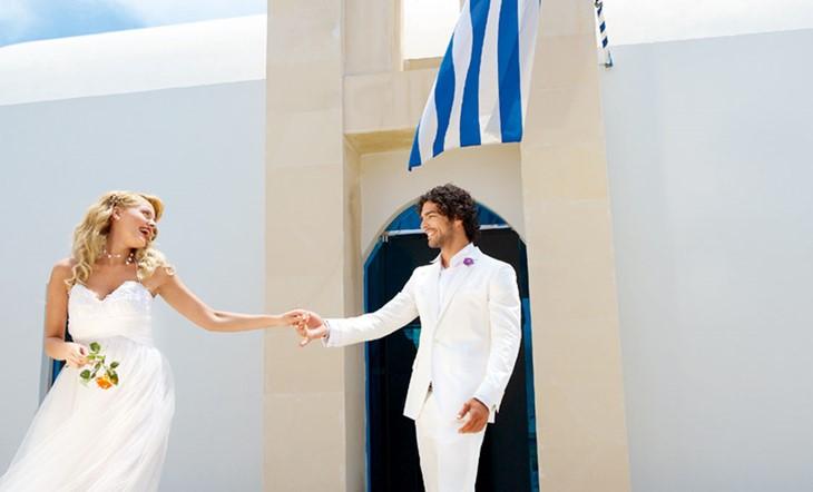 Кос, Официальное бракосочетание, Oфициальное бракосочетание на Косе