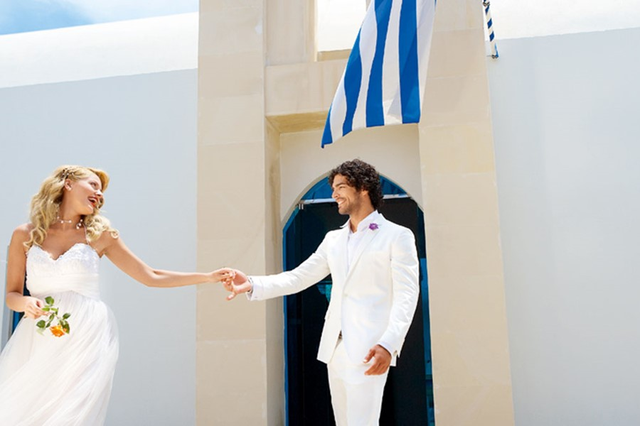 A civil wedding on the island of Kos