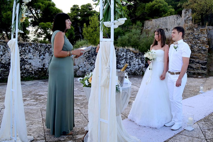 A civil wedding on the island of Zakynthos, Zakynthos